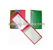 Business card holder with notepad