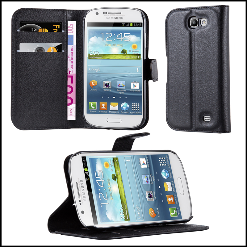 Premium Wallet Leather Moblie Phone Case Cover for Samsung Galaxy Express i8730