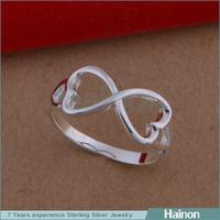 High Quality Big Party Ladies 8 Finger Accessory Elegant Only Silver Ring