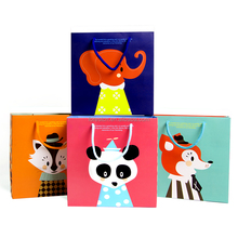 directily sell custom children clothes paper bag from China factory ,cartoon paper gift bag for children's day