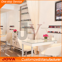 High quality luxury elegant custom design beauty salon furniture nail table for shopping mall