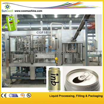 Canned CSD filling machine