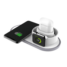 2019 New Product 3 In 1 Charging Station Qi Fast Wireless Charger Pad For Apple Watch Wireless Charger with <strong>CE</strong>,FCC,ROHS