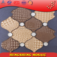 New design bathrooms designs stone lantern tile mosaic pattern