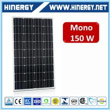 the cheapest 150w mono crystalline solar module from china tangshan with 25 years warranty