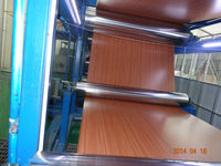 wooden veins coated aluminum coil polyester anti static class