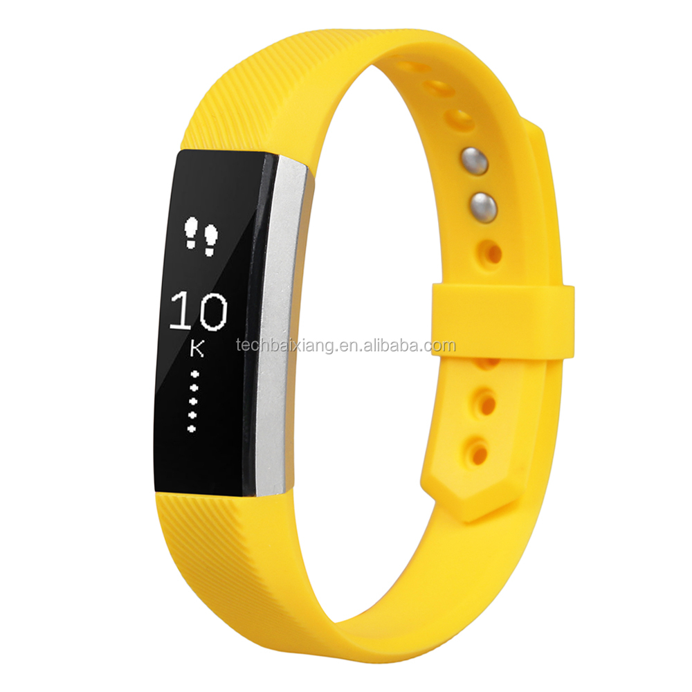 Simple Design Single Color Silicone Watch Band For Fitbit Alta, silicone watch band for fitbit alta