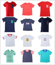 Wholesale baby boy striped t-shirt kids t- shirts kids summer t-shirts