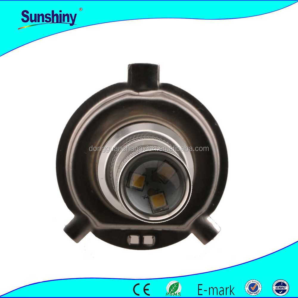 High quality 4 LED daytime running lights car round glass lens led fog lamps