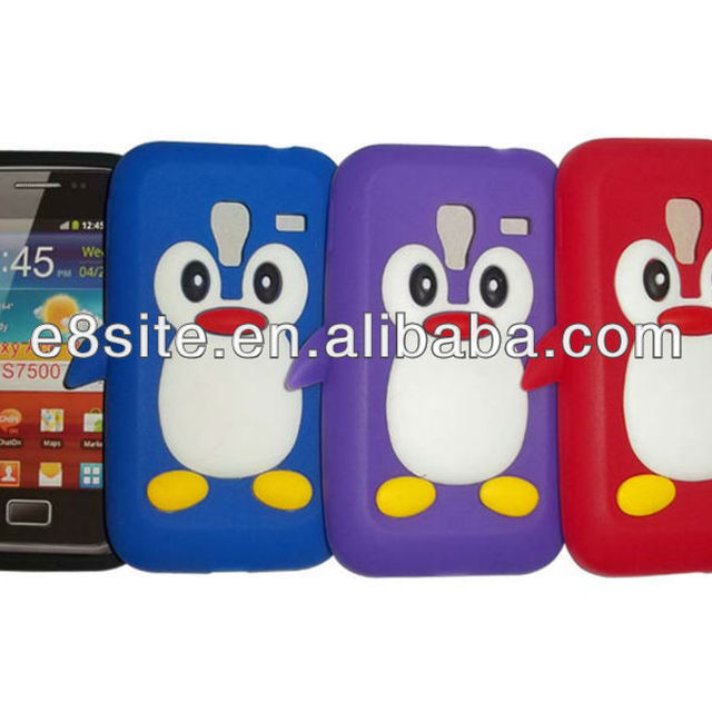 For SamSung S7500 Galaxy Ace Plus Silicone Penguin Cover Case