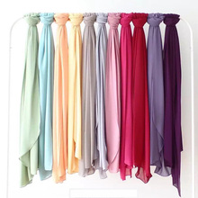 2017 Hangzhou wholesale stylish women muslim hijab pashmina solid color chiffon hijab plain