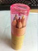 Mini size natural wooden color pencil set ,painting and drawing color pencils set