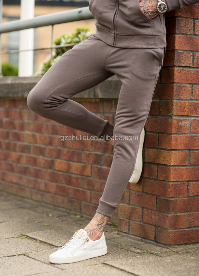 Wholesale Custom Track Pants Men Skinny Leg Jogger Sweatpants With Tapered Bottoms Guangzhou Clothing Factory T-1491