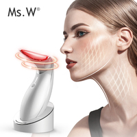 Ms.W facial & neck massager Beauty Machine Portable Heating Device Wrinkle & Anti-Aging Instrument Rechargeable Skin Care