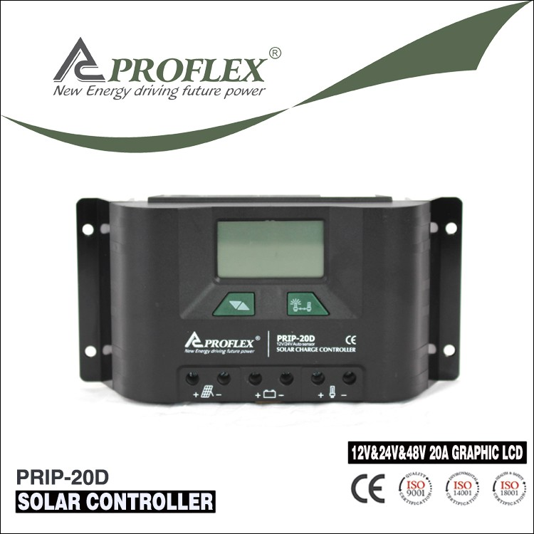 Prostar LCD Display 12V/24V 20A solar charge controller