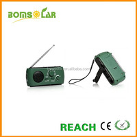 Solar hand crank AM/FM/SW Dynamo Radio+LED flashlight+Phone charger