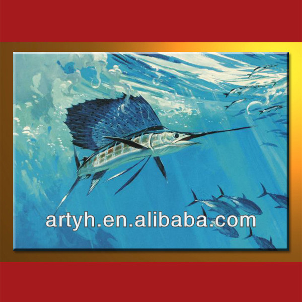 Handmade modern decorative animal oil image