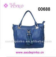 2013 New product classic blue tassel camo imported women bags