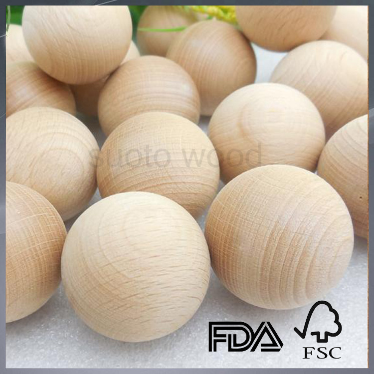 Unfinished beech wood ball wooden bead round wood ball