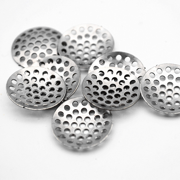 Reusable 60 mesh 30 mm round stainless steel smoking pipe screen