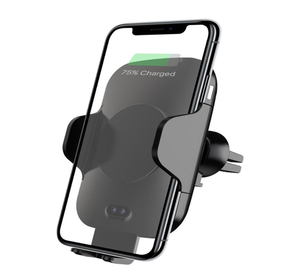 Qi Certified Automatic Wireless Car Charger Mount Phone Holder <strong>auto</strong> -infrared sensor wireless car charger c9