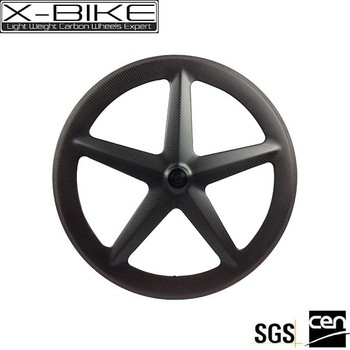 2017 new product high stiffness material full carbon five tubular spoke wheel