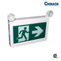 Led Green Battery Back-up Fire Safety Emergency Running Man Exit Sign