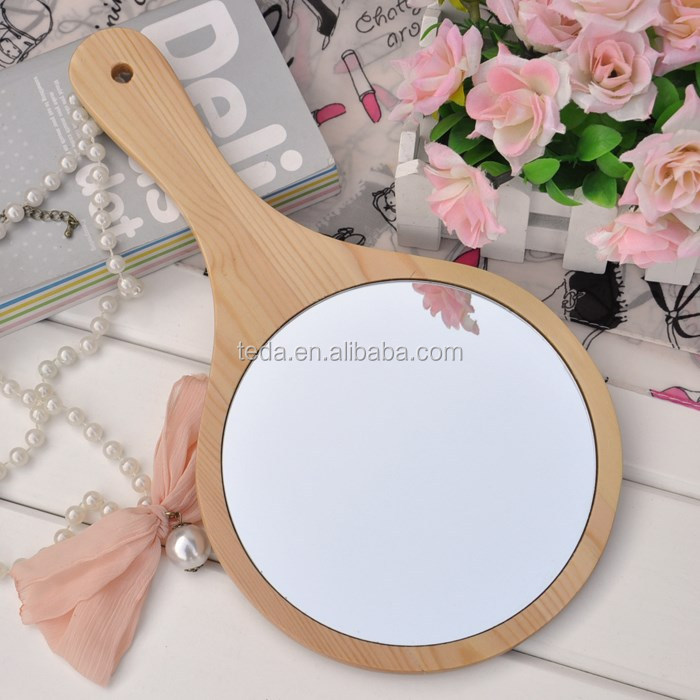 Wooden Frame Handmade Unfinished Wood Mirror (29)
