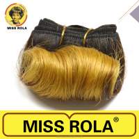 MISS ROLA AFRO-B Hair 4pcs/Pack Short Hairstyles For Black Women High Quality Ombre Color Hair Extensions