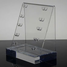 clear acrylic tabletop cosmetic advertising display stand kiosk