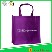 China Factory Shopping Grocery Tote Shoulder Bag Non Woven Purple