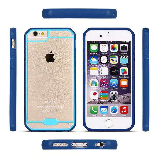 2016 Fashion Design 3 Color Mix TPU PC Mobile Phone Case For iphone 6s
