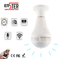 Hot sale 2.0 Megapixel full HD night vision 360 Degree Panoramic cctv security hidden wireless IP light WiFi bulb camera