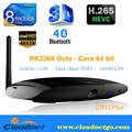 Black RK3368 Octa Core 64bit 2GB DDR3 16GB 4K Android Smart TV Converter Box