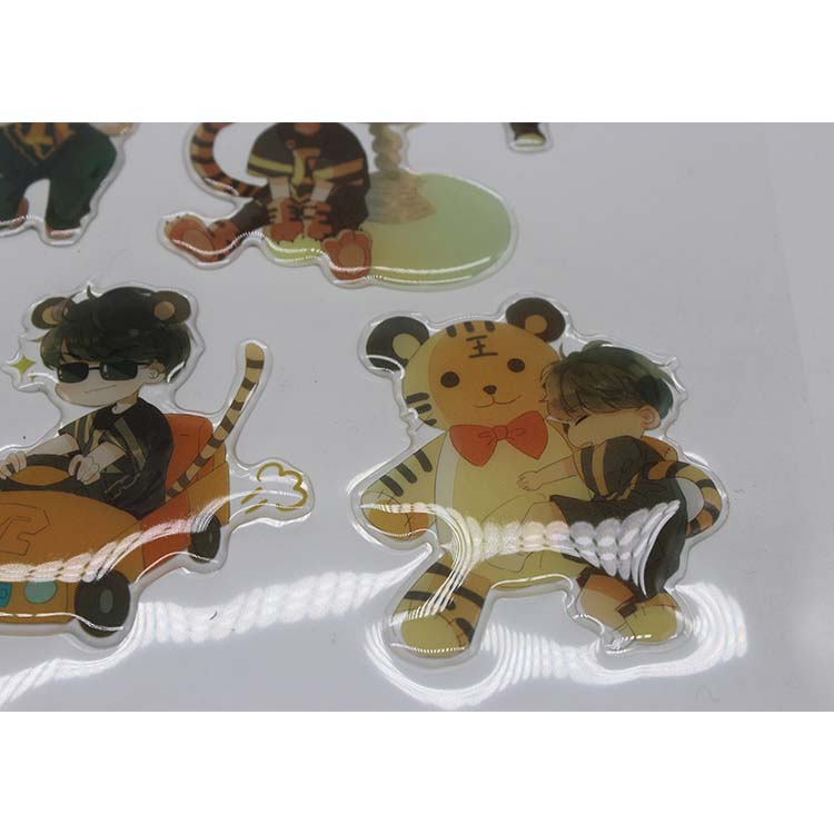 New design adhesive clear epoxy resin sticker,waterproof sticker epoxy