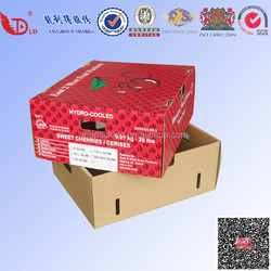 Fruit and vegetable storage carton box ,cherry fruit box
