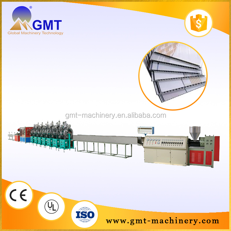 Quality assurance extrusion line pvc profile extrusion line iso9001 pvc plastic plate making machine