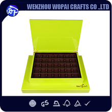 Luxury high glossy Middle easter date box Dubai chocolate wood box