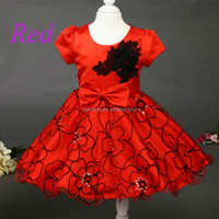 Red Alibaba wholesale short party dress patterns for girls party wear