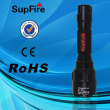 China Supfire C8-T6 Aluminum flashlight LED Rechargeable flashlight