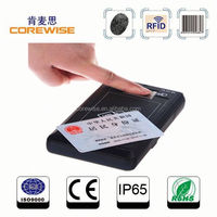 Handheld RFID smart card reader, thumb scanner