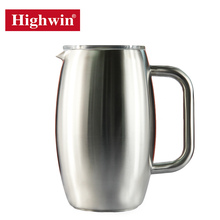 Amazon new product large satin finished stainless steel coffee pot