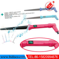 plastic material beauty salon equipment ceramic electric hair straightening comb