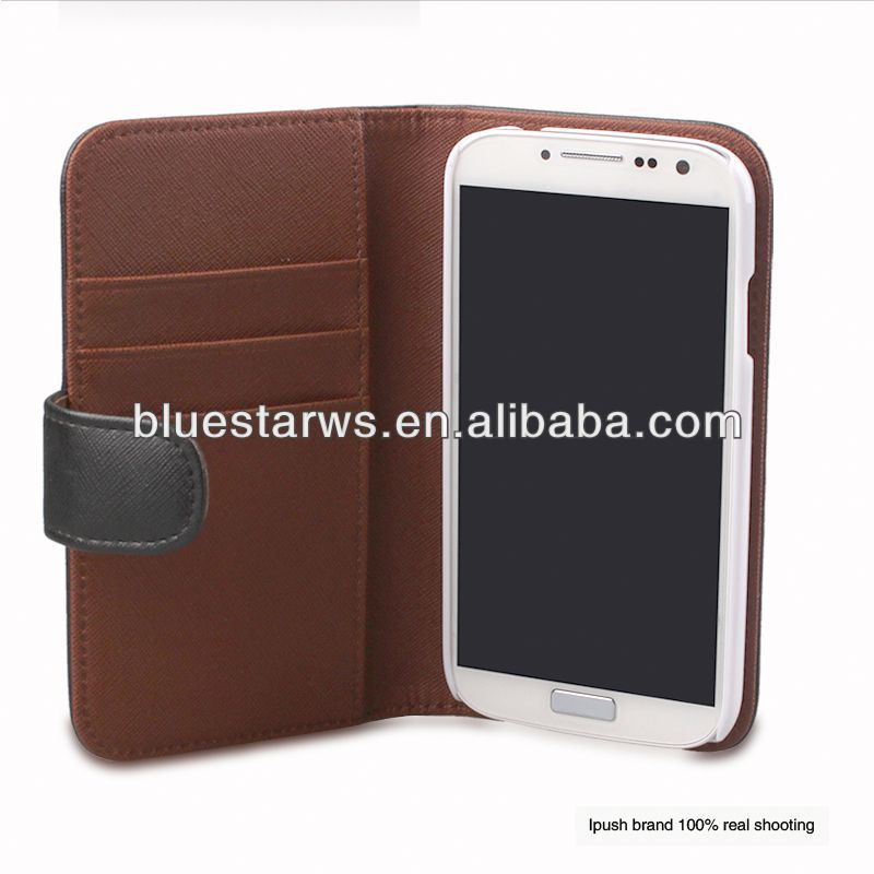 Factory Supply Popular wallet s4 case wallet case pouch galaxy s4 fit pu leather case for galaxy s4