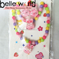 hello kitty kids plastic necklace for children