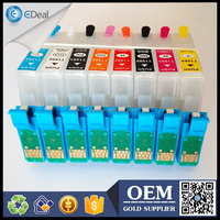 T1590-T1599 printer cartridge for Epson R2000 refill ink cartridge with auto reset chip