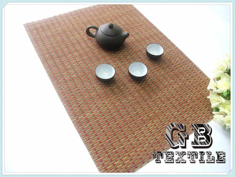 High Quality Jacquard Placemat/Table Mat/Pvc Foam Placemats for Home, Restaurants and Hotels