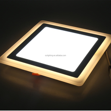 good quality ac85-265v 3+3 double color led panel light with CE rohs