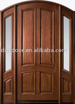 Lujo europeo de madera maciza puerta de entrada dj for Puertas de entrada de madera maciza