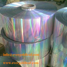 hologram hot stamping foil, holographic foil with rainbow color for paper and film application